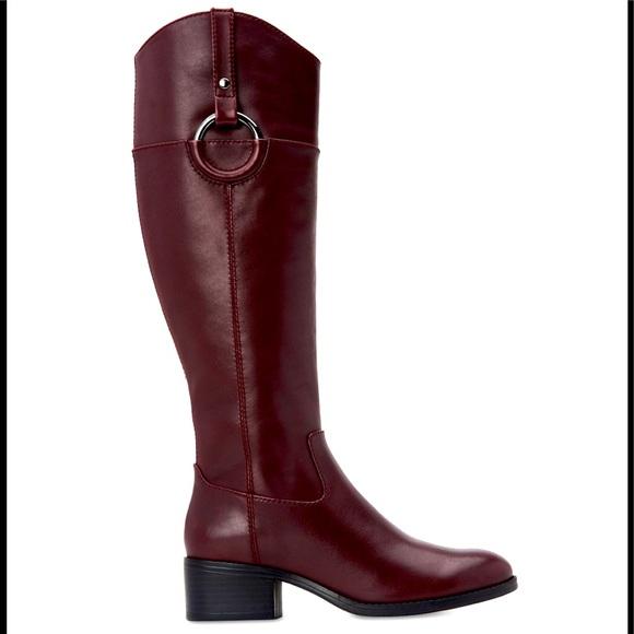 Alfani Shoes | Leather Riding Boots